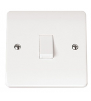 Click Scolmore 20A Dp Switch With Neon Without Flex Outlet (White)