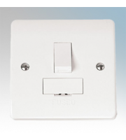 Click Scolmore 13A Switched Fused Connection Unit Without Flex Outlet (White)