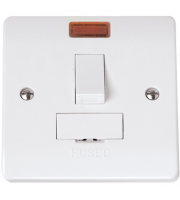 Click Scolmore 13A Switched Fused Connection Unit With Neon Without Flex Outlet