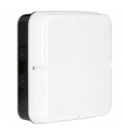 Enlite Utilite 18W IP65 Square Drum Microwave Sensor LED Bulkhead (White)
