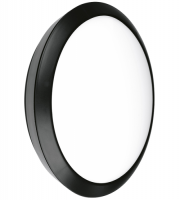 Enlite Orbital IP66 25W Emergency LED Bulkhead (Black)