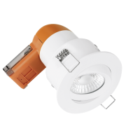Aurora 240V 6W 95mm 680lm 60? Adjustable Dimmable Fire Rated Led Downlight 3000K (Matt White)