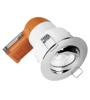 Aurora 240V 6W 95mm 680lm 60? Adjustable Dimmable Fire Rated Led Downlight 3000K (Polished Chrome)