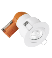 Aurora 240V 6W 95mm 680lm 60? Adjustable Dimmable Fire Rated Led Downlight 3000K (White)