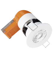 Aurora 240V 6W IP65 580lm 60? Fixed Dimmable Fire Rated Led Downlight Emergency 3000K
