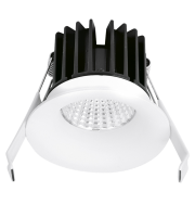 Aurora 240V 7W IP44 85mm 575lm 60ø Fixed 20mm Baffle 1-10V Dimmable Led Downlight 3000K