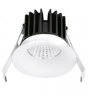 Aurora Lighting 220-240V 10W IP44 Fixed 10mm Baffle Dimmable Downlight 3000K(White)