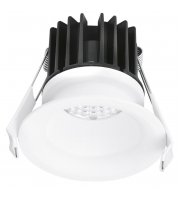 Aurora Lighting 220-240V 10W IP44 Fixed 20mm Baffle Dimmable Downlight 4000K(White)