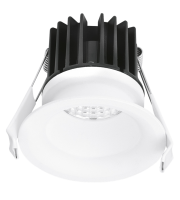 Aurora 240V 10W IP44 85mm 880lm 60ø Fixed 20mm Baffle Dali Led Downlight 4000K
