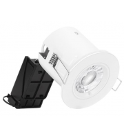 Aurora 240V Fixed Compact Professional GU10 Fire Rated Downlight (White)