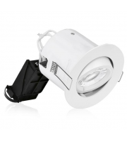 Aurora 240V Adjustable Compact Professional Fire Rated Downlight (White)