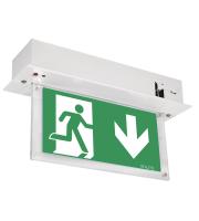 Aurora Lighting 240V Alu. Ceiling Recessed Led Emergency Exit Sign Without Legend