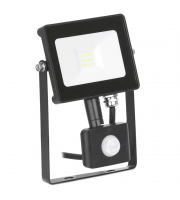 Aurora Lighting 30W Pir Adjustable IP65 Driverless Led Floodlight Black 4000K(White)