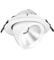Aurora 240V 30W 180mm 3500lm 45? Adjustable 1-10V Dimmable Led Recessed Wallwasher 4000K