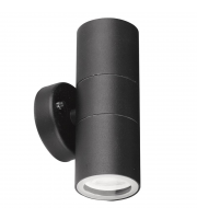 Aurora 240V GU10 IP44 Aluminium Fixed Up/down Wall Light Black(White)