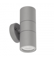 Aurora 240V GU10 IP44 Aluminium Fixed Up/down Wall Light Grey(White)