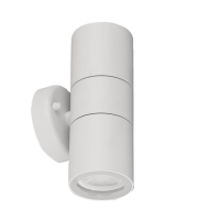 Aurora 240V GU10 IP44 Aluminium Fixed Up/down Wall Light White(White)