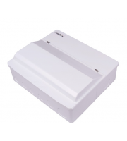 Fusebox Dual Rcd 6WAY Pop (4xMCB) (White)