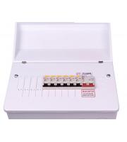 Fusebox 100A M/s + 6WAY Pop (4xRCBO) (White)
