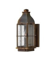 Elstead Bingham 1 Light Small Wall Lantern (Sienna)