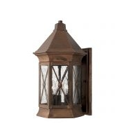 Elstead Brighton 3 Light Medium Wall Lantern (Sienna)