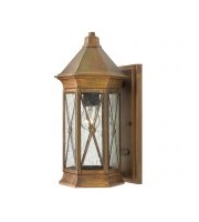 Elstead Brighton 1 Light Small Wall Lantern (Sienna)
