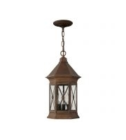 Elstead Brighton 3 Light Chain Lantern (Sienna)