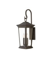 Elstead Bromley 3 Light Large Wall Lantern (Oil Rubbed Bronze)