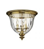 Elstead Cambridge 3 Light Flush Mount (Burnished Brass)
