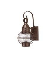 Elstead Capecod 1 Light Small Wall Lantern (Sienna Bronze)