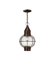 Elstead Capecod 1 Light Chain Lantern (Sienna Bronze)
