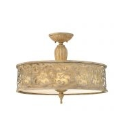 Elstead Carabel 3 Light Large Semi-flush (Brushed Champagne)