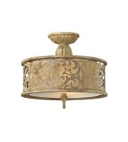 Elstead Carabel 2 Light Small Semi-flush (Brushed Champagne)