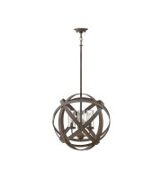 Elstead Carson 3 Light Outdoor Chandelier (Vintage Iron)