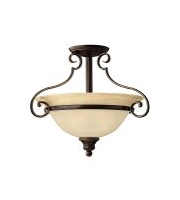 Elstead Cello 2 Light Semi-flush (Antique Bronze)