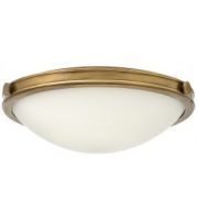 Elstead Collier 3 Light Large Flush (Hertiage Brass)