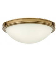 Elstead Collier 2 Light Small Flush (Heritage Brass)