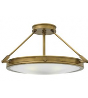 Elstead Collier 4 Light Large Semi-flush (Heritage Brass)