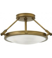 Elstead Collier 3 Light Semi-flush (Heritage Brass)