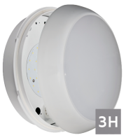 NET LED Duxford 2D IP54 Em Bulkhead 16W (Tri-colour)