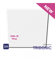 NET LED Ashley UGR<19 Tri-colour Pnl 600x600 30W Tp(a) Emergency
