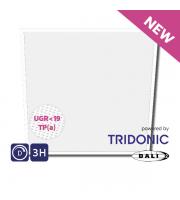 NET LED Ashley UGR<19 Tri-colour Pnl 600x600 30W Tp(a) Dimmable Emergency
