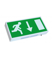 Bourne Maintained Led Em Exit Sign - Down Arrow (Green)
