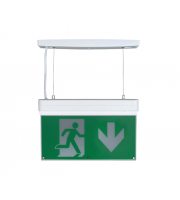 NET LED Bourne Maintained Em Suspended Exit Sign - Down Arrow (Green)