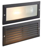Saxby Lighting Eco plain & louvre (Black) IP44 40W
