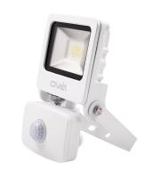 Ovia Pathfinder 10W Led Floodlight With Pir - IP44 - 3000K - White
