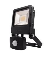Ovia Pathfinder 20W Led Floodlight With Pir - IP44 - 3000K - Black