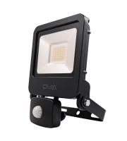 Ovia Pathfinder 30W Led Floodlight With Pir - IP44 - 3000K - Black
