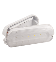 Ovia Hulke 3W Emergency Led Maintained Hinged Bulkhead - IP65