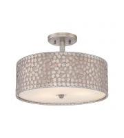 Elstead Confetti 3 Light Semi-flush (Old Silver)